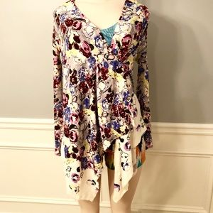 Guinevere Anthropologie Floral Sweater